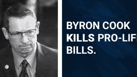 Byron Cook kills Pro-Life bills