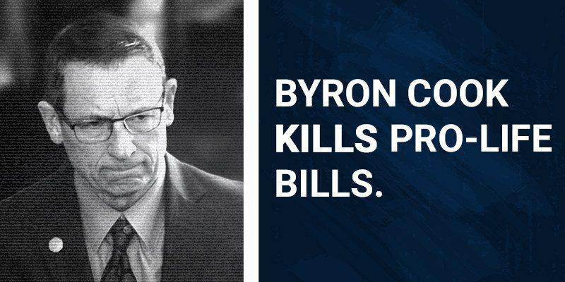Byron Cook kills Pro-Life bills